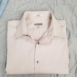 Express fitted button down shirt.